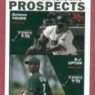 2004 Topps Delmon Young BJ Upton ROOKIE Tampa Bay Rays Tigers # 692