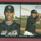 2003 Topps Heritage Signature Jose Reyes New York Mets # 163