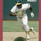 1993 Pinnacle Cooperstown Collection Rickey Henderson Oakland A's # 7