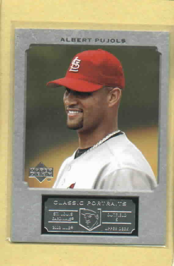 2003 Upper Deck Classic Portraits Albert Pujols St Louis Cardinals  #75