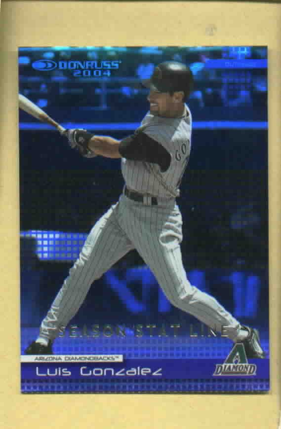 2004 Donruss Season Stat Line Luis Gonzales Arizona Diamondbacks #218 #D21 /92