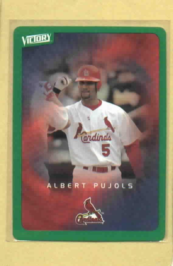 2003 Upper Deck Victory Green Albert Pujols St Louis Cardinals # 87