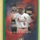 2003 Upper Deck Victory Green Albert Pujols St Louis Cardinals # 87