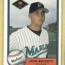 2001 Fleer Platinum Josh Beckett ROOKIE Marlins Red Sox # 329