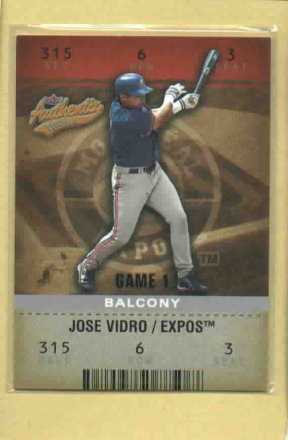 2003 Fleer Authentix Balcony Jose Vidro Expos # 18 #D 4/250