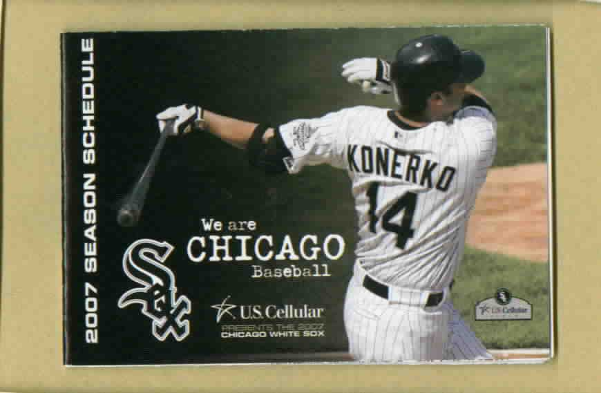 2007 Chicago White Sox Pocket Schedule Paul Konerko Miller Lite