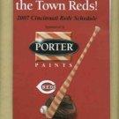 2007 Cincinnati Reds Pocket Schedule