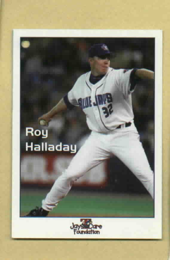 RARE 2003? Roy Halladay Jays Care Foundation Baseball Card Toronto Blue Jays