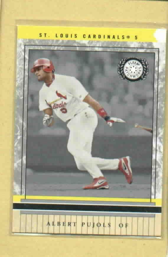 2003 Fleer Patchworks Albert Pujols St Louis Cardinals # 87