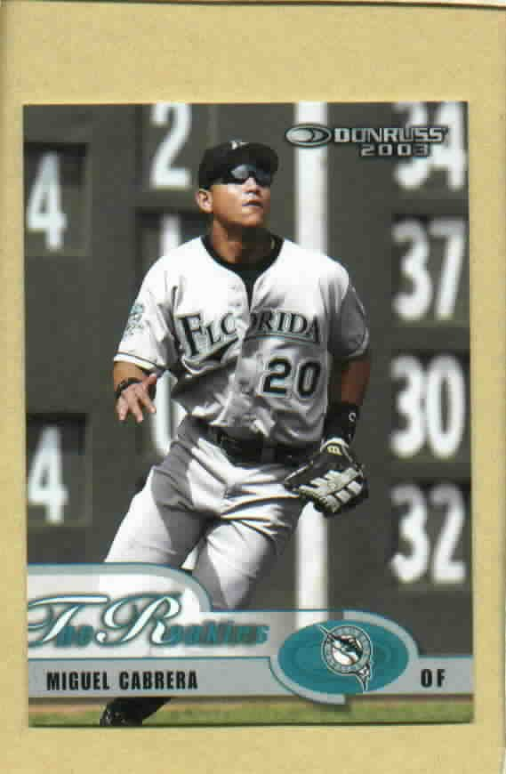 2003 Donruss The Rookies Miguel Cabrera Florida Marlins Detroit Tigers # 7