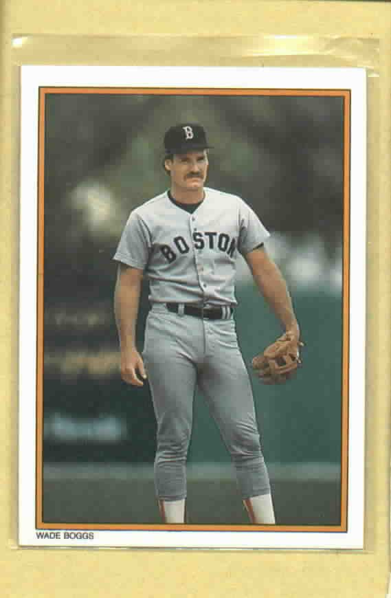 1987 Topps All Star Set Wade Boggs Boston Red Sox # 18