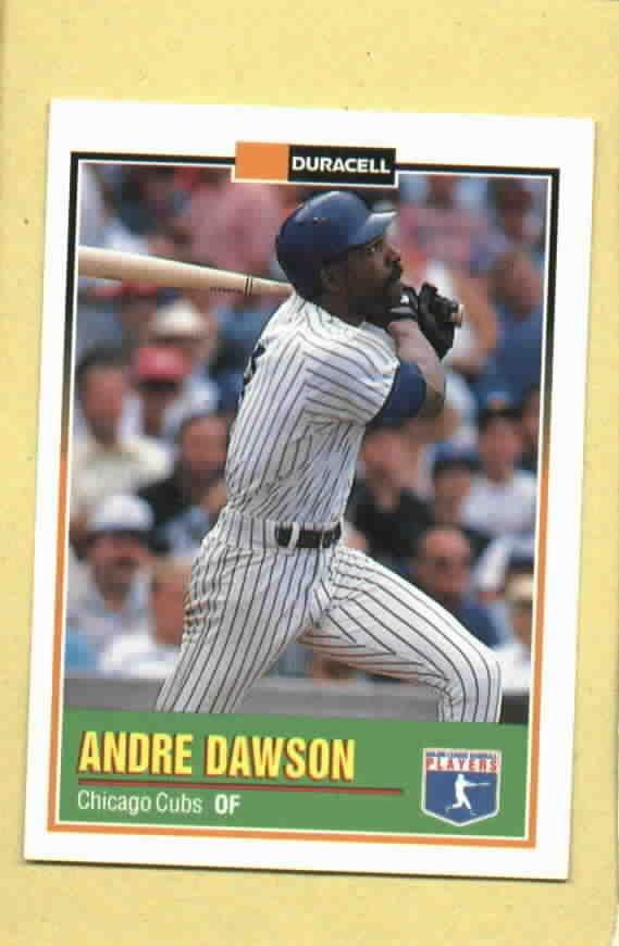 1993 Duracell Andre Dawson Chicago Cubs Oddball # 3