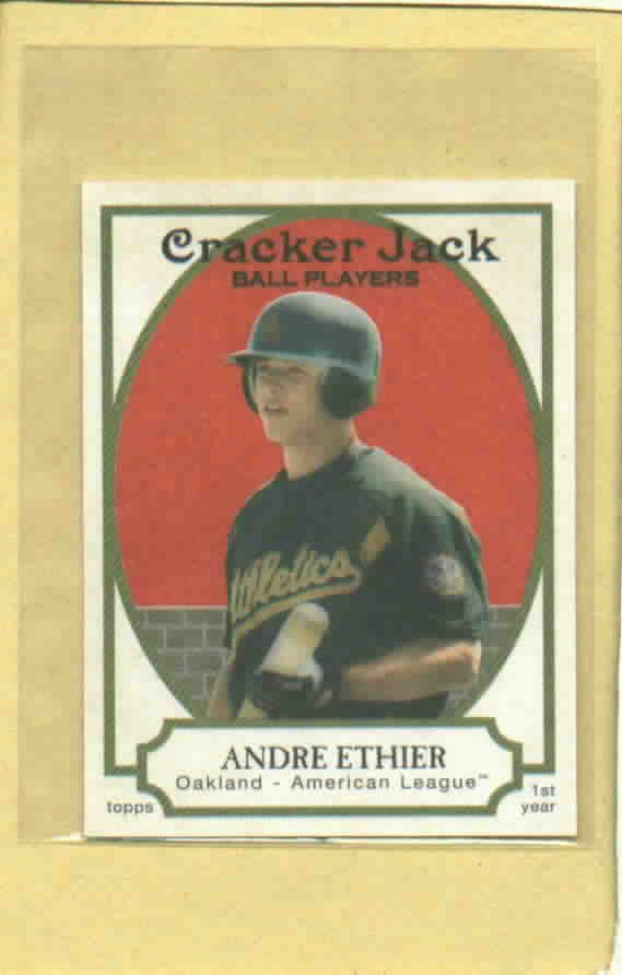 2005 Topps Cracker Jack Mini Andre Ethier ROOKIE Oakland A's # 210