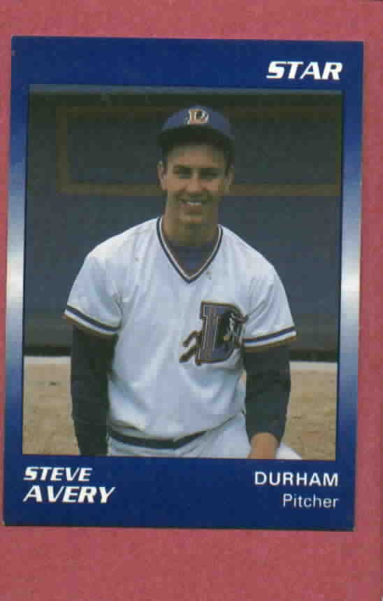 1989 Star Steve Avery Durham Bulls Atlanta Braves Rookie Oddball