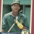 1984 Fleer Rickey Henderson Oakland A's # 447
