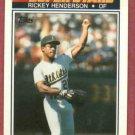 1990 K Mart Baseball Card Rickey Henderson Oakland A's Oddball