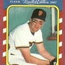 1987 Fleer Limited Edition Will Clark San Francisco Giants # 8 Oddball