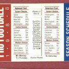 1988 NFL Pro Football Pocket Schedule