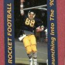 1990 University Of Toledo Rockets Football Pocket Schedule
