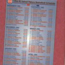 1994 95 Detroit Pistons & Vipers Pocket Schedule Budweiser