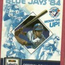 1984 Toronto Blue Jays Pocket Schedule Labatts Beer
