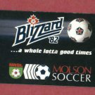 1982 Toronto Blizzard Soccer Pocket Schedule