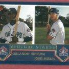 2003 Topps Orlando Hudson Josh Phelps Rookie Toronto Blue Jays # 326