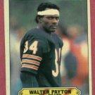 1983 Topps Sticker Walter Payton Chicago Bears