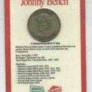 1989 Kahns Coin Johnny Bench Cincinnati Reds