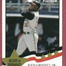 2002 Fleer Platinum Decade Of Dominance Ken Griffey Jr Cincinnati Reds # 253