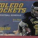 2011 University Of Toledo Rockets Pocket Football Schedule