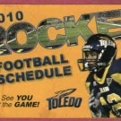 2010 University Of Toledo Rockets Pocket Football Schedule