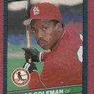 1986 Leaf Vince Coleman St Louis Cardinals Rookie # 115