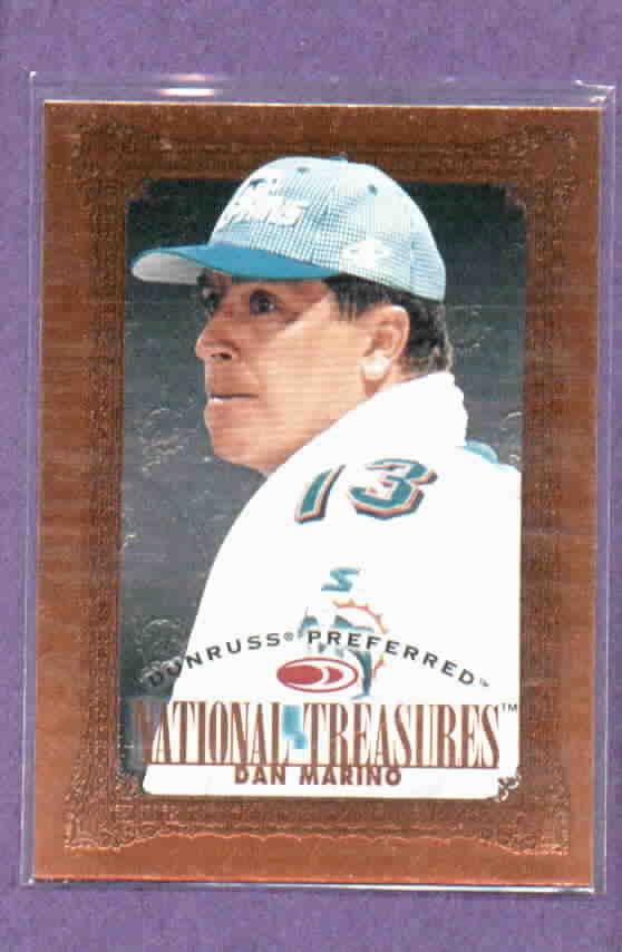 1997 Donruss Preferred National Treasures Dan Marino Miami Dolphins # 129