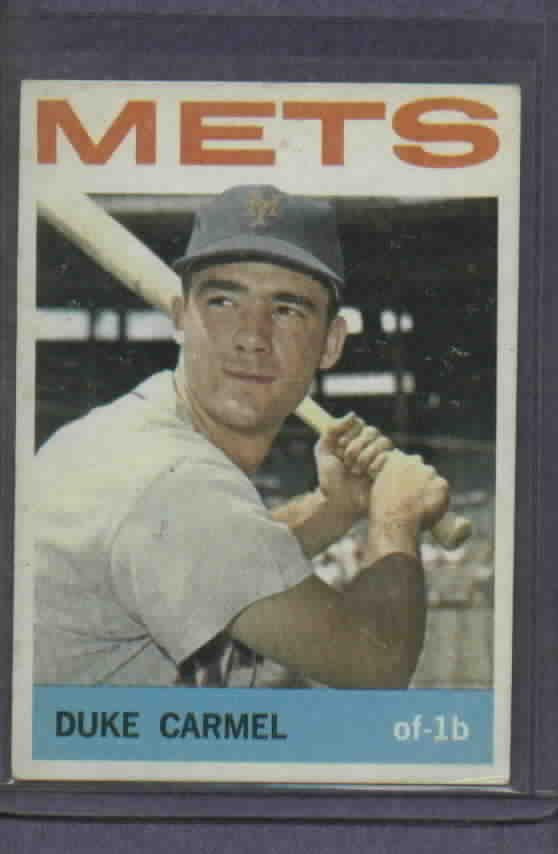 1964 Topps Duke Carmel New York Mets # 44