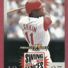 1997 Pinnacle X Press Swing For The Fences Barry Larkin Cincinnati Reds Oddball