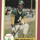 1981 Fleer Rickey Henderson Oakland A's Second Year # 351