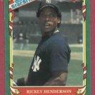 1987 Fleer Star Stickers Rickey Henderson New York Yankees Oddball # 56