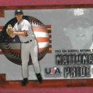 2003 Upper Deck National Pride USA Dustin Pedroia Boston Red Sox Rookie # USA15