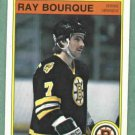 1982 83 O Pee Chee Ray Bourque Boston Bruins # 7