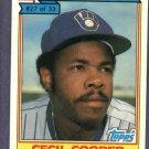 1984 Ralston Purina Cecil Cooper Milwaukee Brewers Oddball Baseball Card # 27