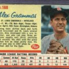 1962 Post Alex Grammas St Louis Cardinals # 168