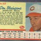 1962 Post Don Blasingame Cincinnati Reds # 117