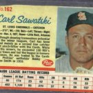 1962 Post Carl Sawatski St Louis Cardinals # 162