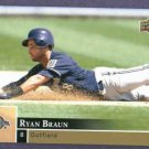 2009 Upper Deck First Edition Ryan Braun Milwaukee Brewers # 168