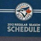 2012 Toronto Blue Jays Pocket Schedule