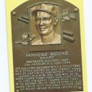 Baseball Hall Of Fame Postcard Sandy Kofax Brooklyn Los Angeles Dodgers