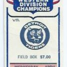 April 27 1983 California Angels V Detroit Tigers Ticket Stub