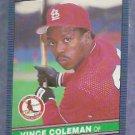 1986 Leaf Vince Coleman ROOKIE St. Louis Cardinals # 115