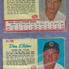 Pair 1962 Post Cereal Don Elston Chicago Cubs 1 Blue 1 Gray Backround # 190